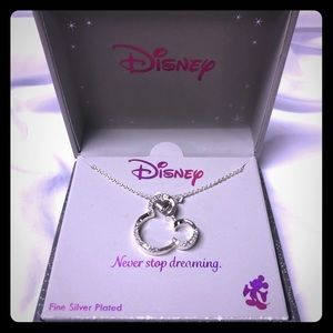 Disney Mickey Mouse silver necklace